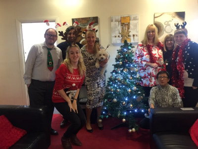Christmas Jumper Day in aid of St Francis Hospice - F Barnes