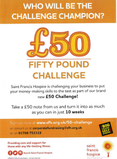 Who Will Be The £50 Challenge Champion? - F Barnes